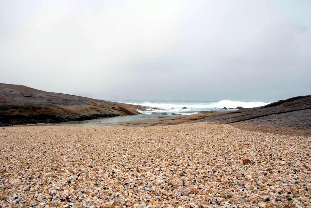 Shell grit beach