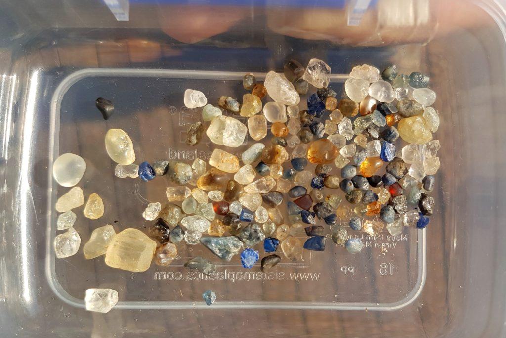 Topaz, zircon and sapphire