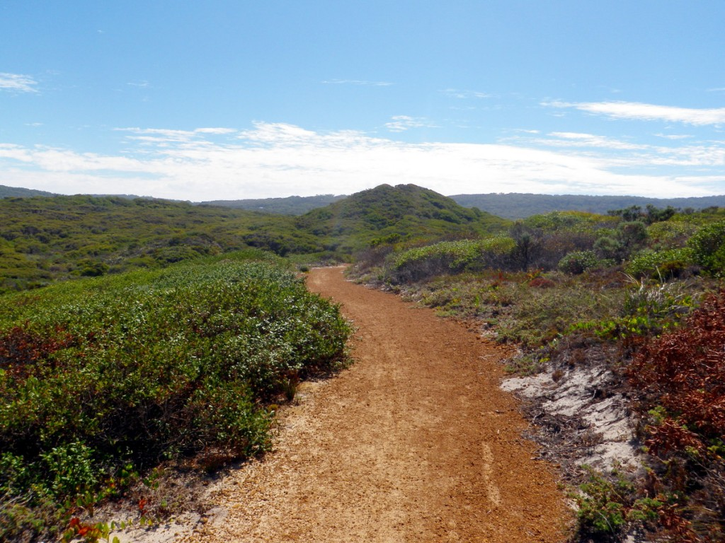 A Flat gravel section in coastal area