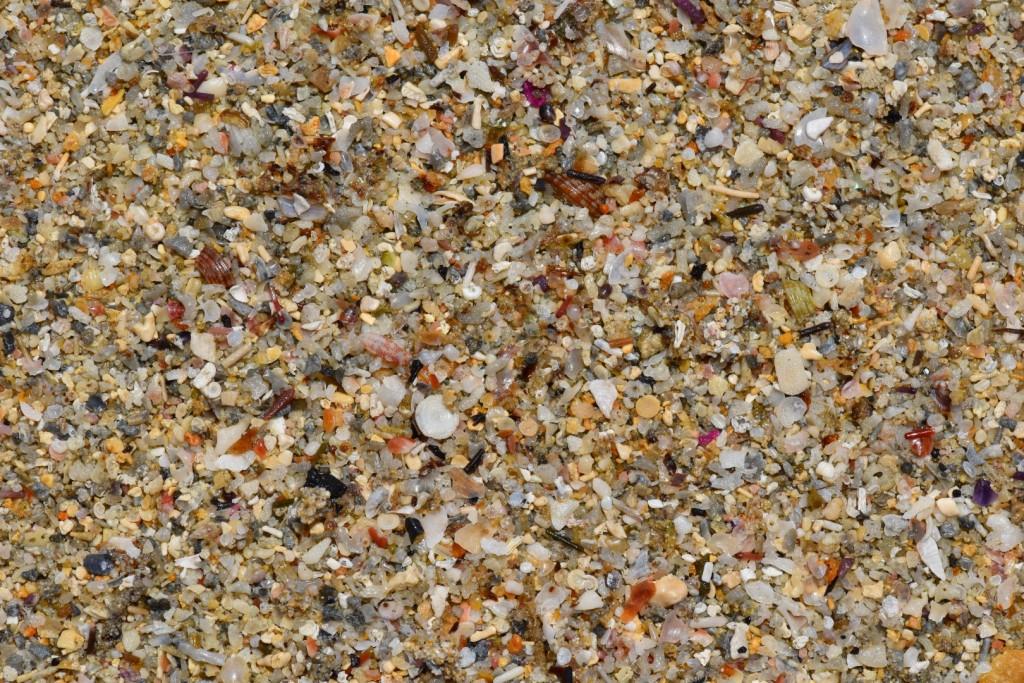 One area of beach sand