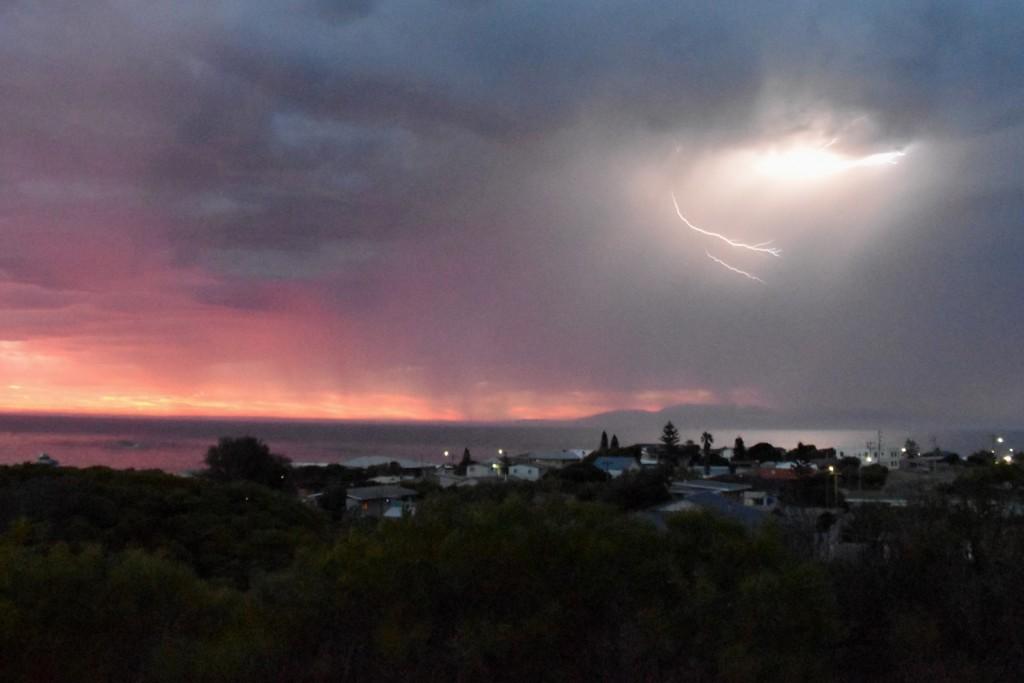 Lightning and rain