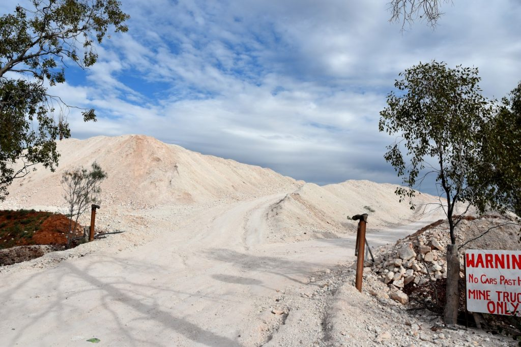 The mine dump